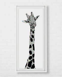 Beautiful Long Giraffe Art
