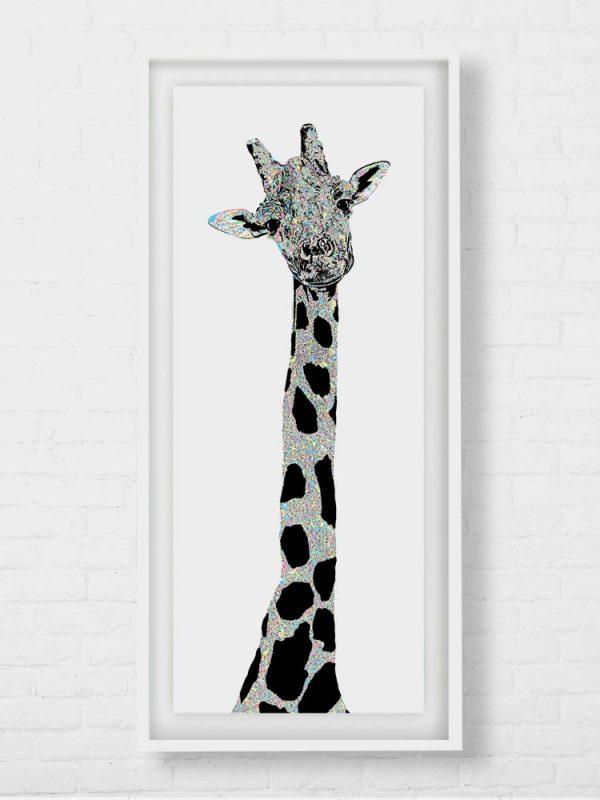 Beautiful Long Giraffe Art