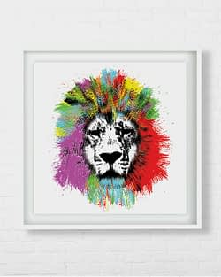 Colourful Lion Art