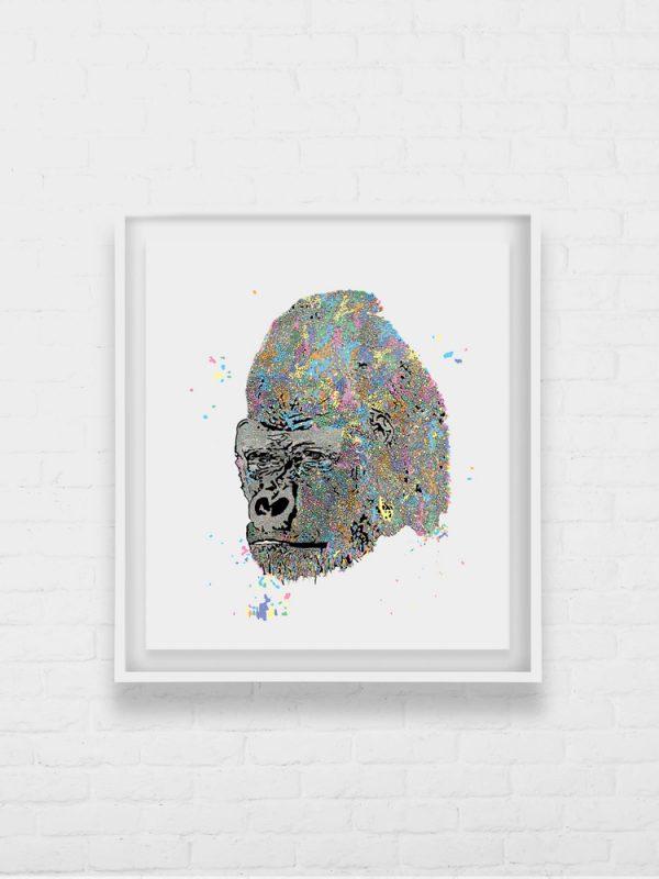 Stanley Silverback Gorilla Digital Animal Artwork