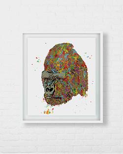 Gorilla Silverback Art