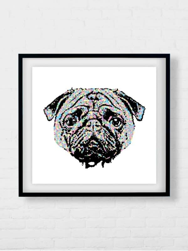 Beautiful Pug Dog Artwork