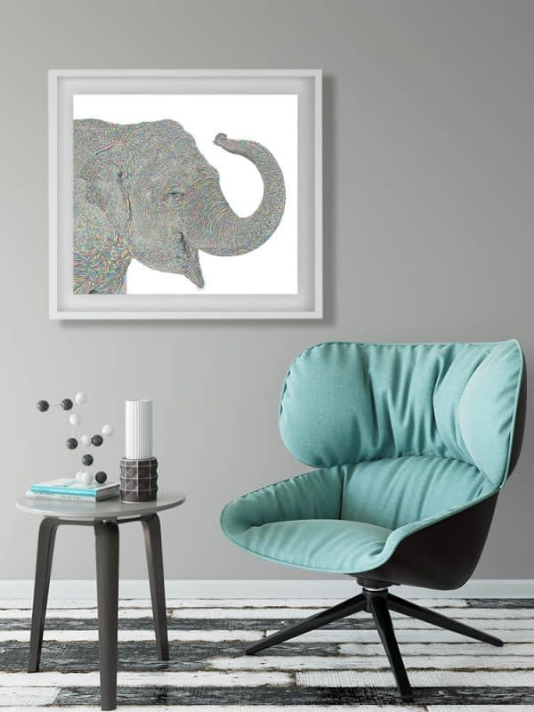 Beautiful Elephant Art