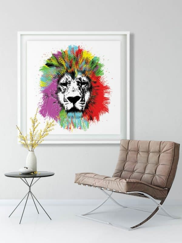 Wall Lion Art