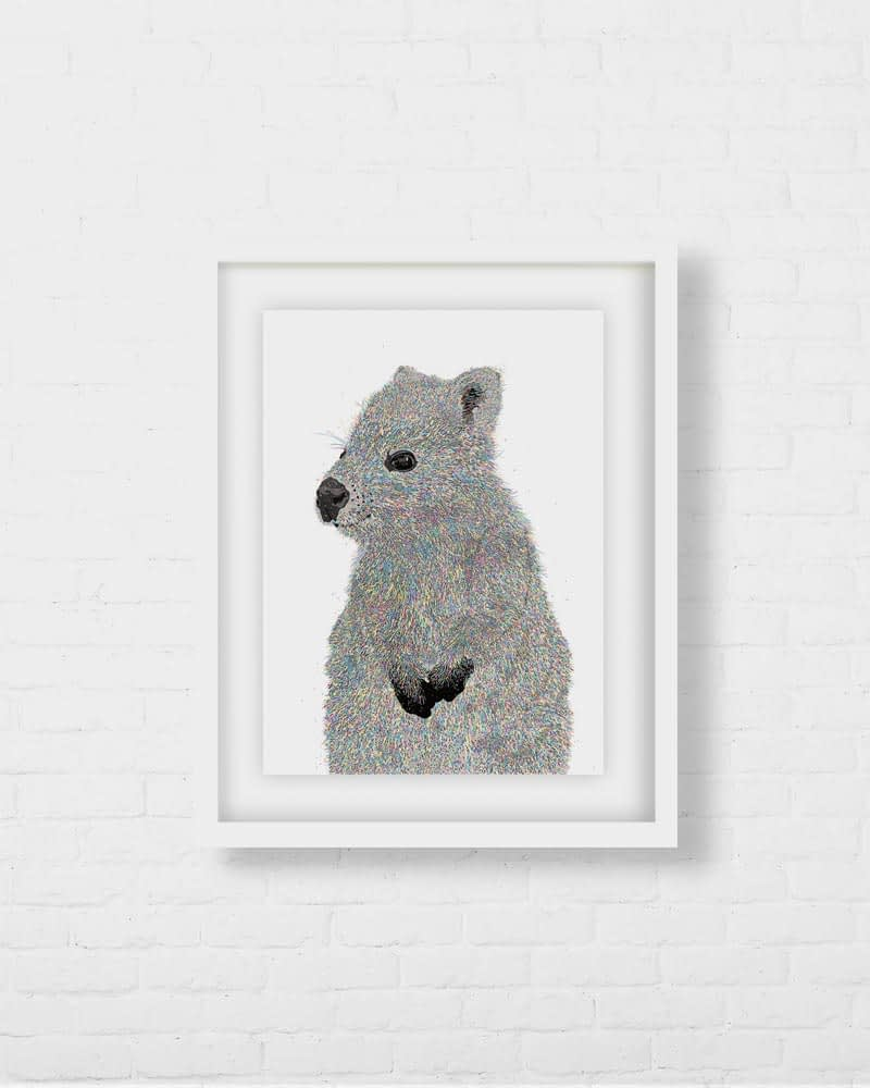 Wall Quokka Art