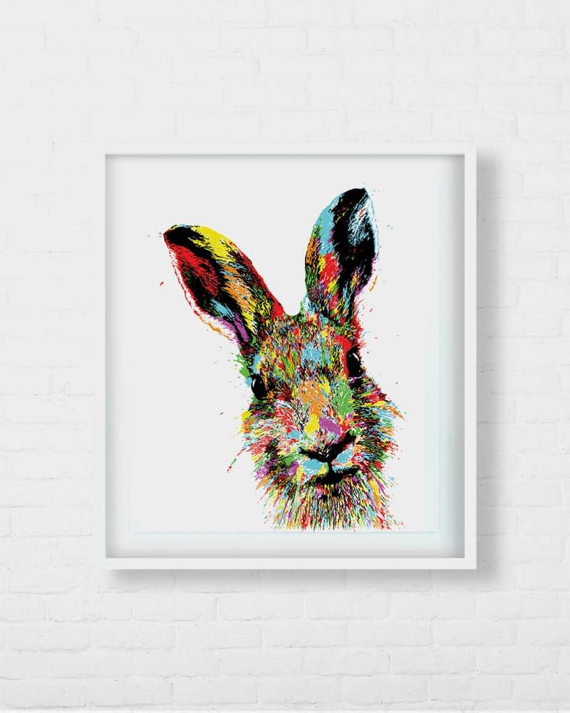 Stunning Hare Rabbit Bunny Artwork