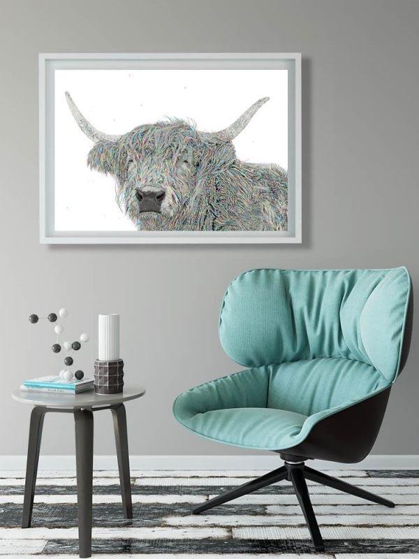 Stunning Highland Cow Art