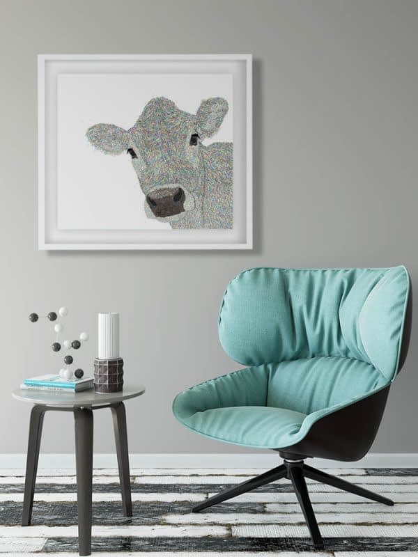 Beautiful Jersey Cow Digital Animal Artwork